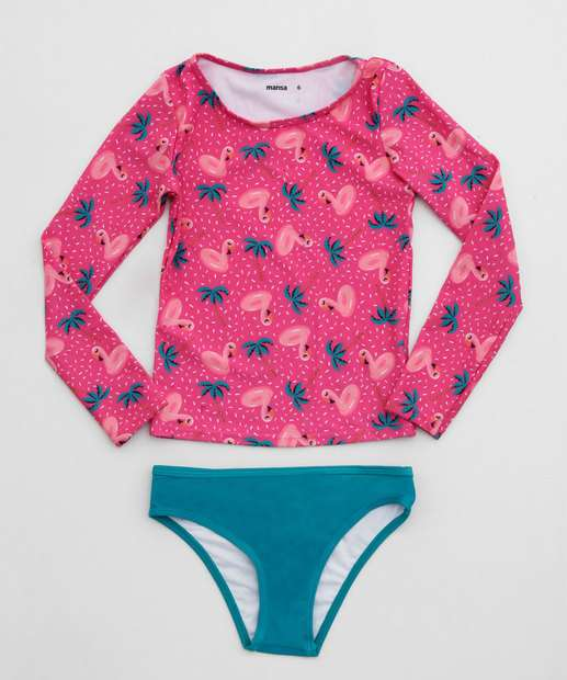 Image_Biquíni Infantil Estampa Flamingos Marisa