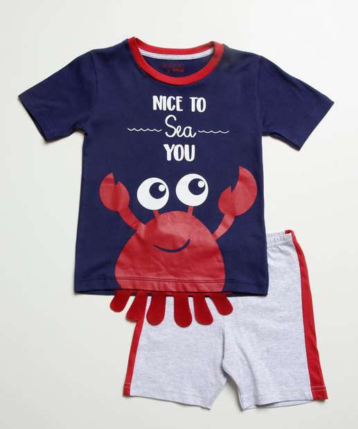 Image_Pijama Infantil Bebê Estampa Siri Manga Curta