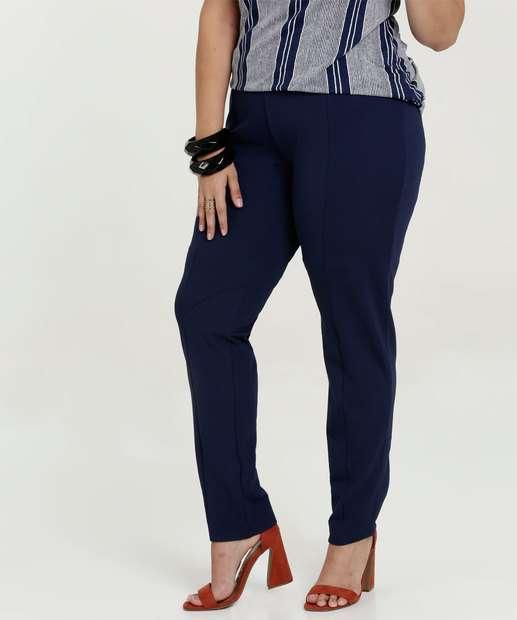 97b885aad9 Calça Feminina Reta Plus Size
