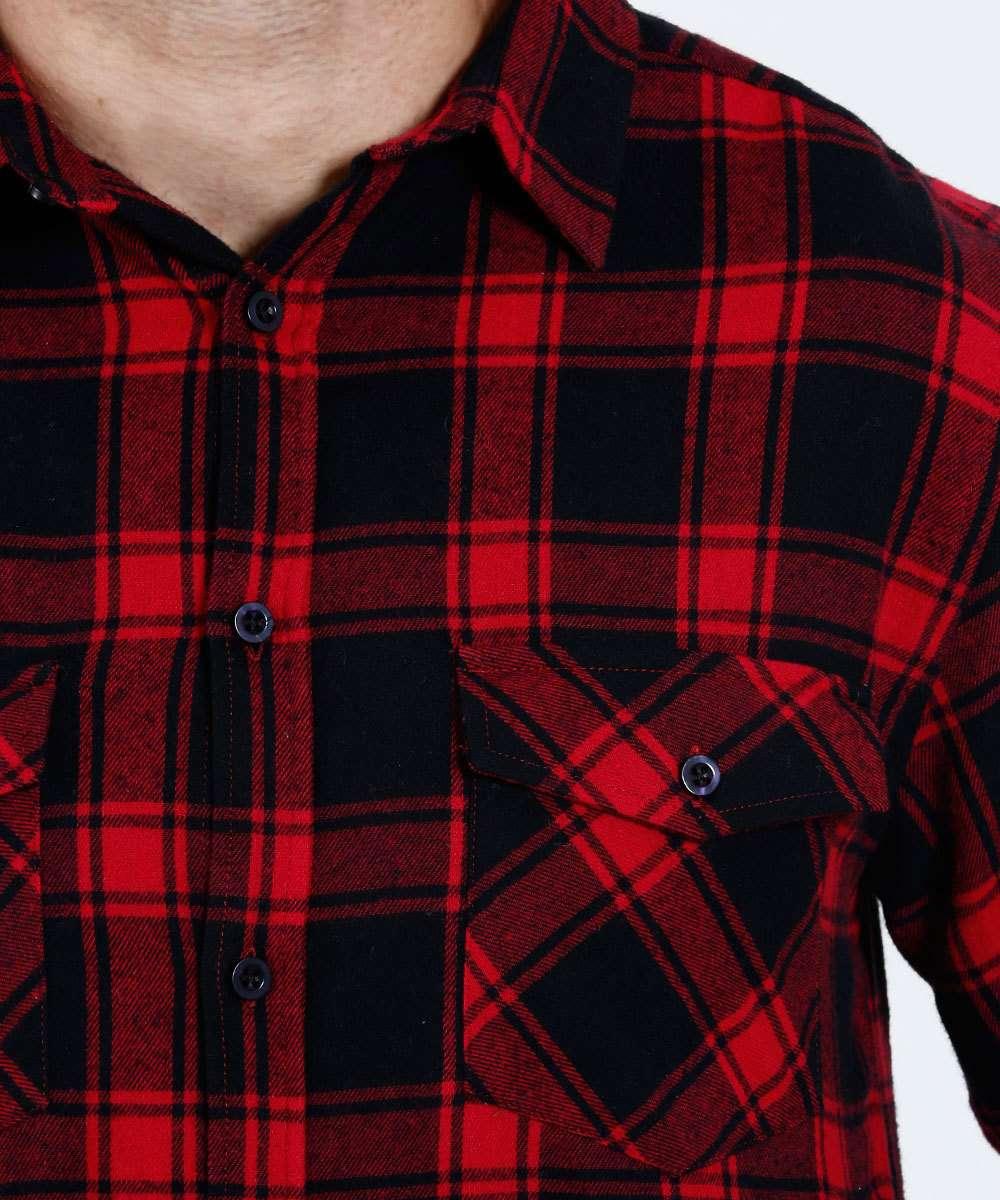 Camisa Masculina Estampa Xadrez Flanelada Marisa  1e49c35c01b