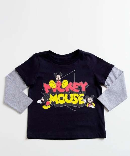 Image_Camiseta Infantil Estampa Mickey Manga Longa Disney