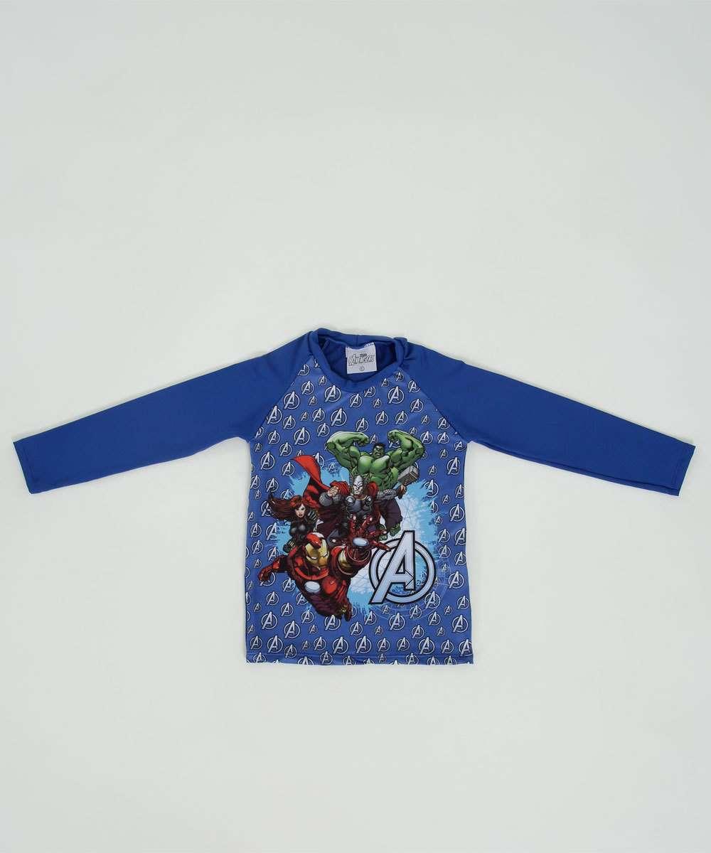 Camiseta Praia Infantil Os Vingadores Proteção UV Marvel   Marisa b3d8464bd8