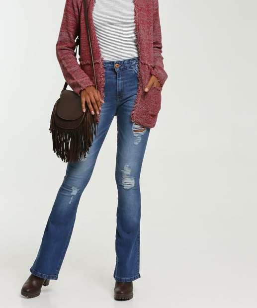 Image_Calça Jeans Flare Destroyed Feminina Biotipo