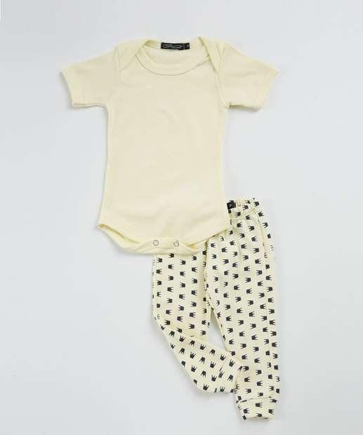 Image_Conjunto Infantil Bebê  Estampa Coroa Chópp
