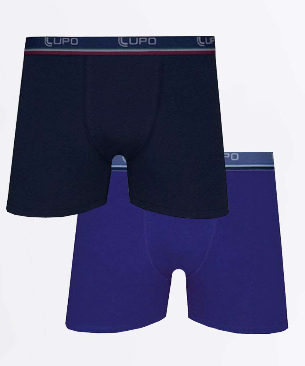 Kit 2 Cuecas Masculina Boxer Lupo