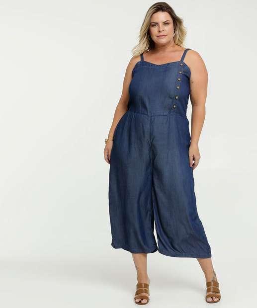 Image_Macacão Feminino Jeans Pantacourt Plus Size