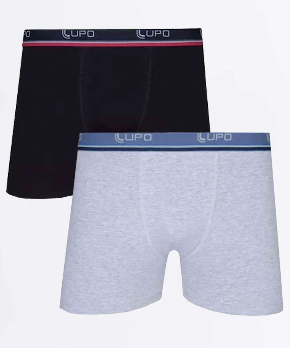 Kit 2 Cuecas Boxer Masculina Lupo