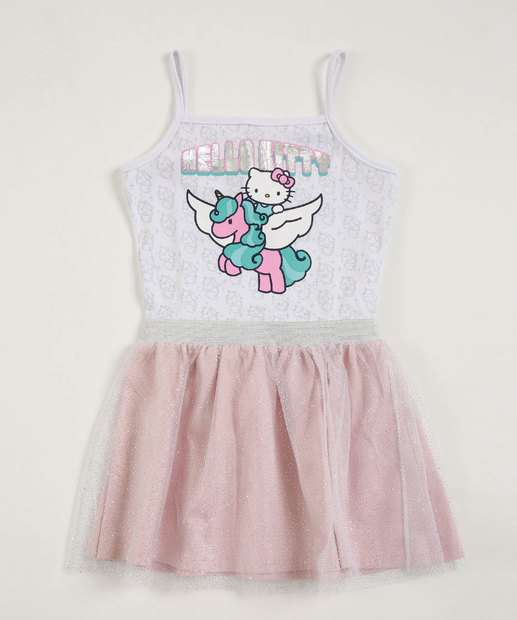 Image_Vestido Infantil Estampa Hello Kitty Alças Finas Sanrio