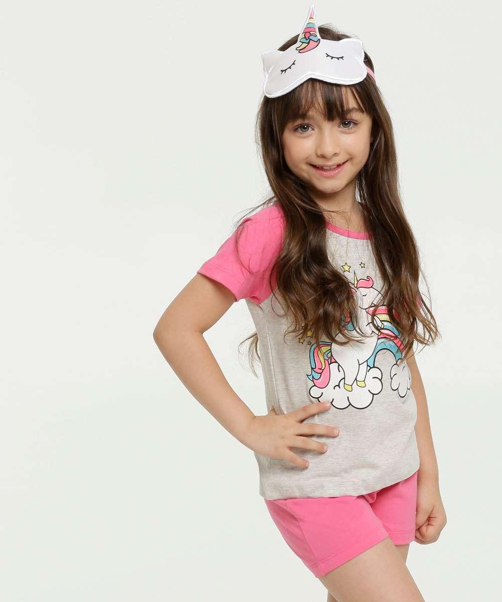 Pijama Infantil Estampa Unicórnio Brinde Marisa