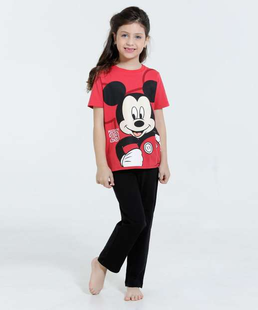 Image_Pijama Infantil Mickey Manga Curta Disney