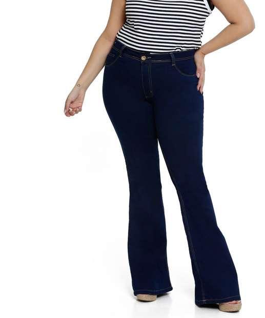 Image_Calça Jeans Flare Plus Size Biotipo