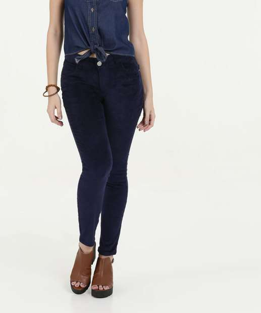 Image_Calça Feminina Veludo Skinny Uber Jeans