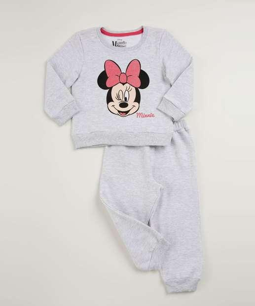 99d3a8a002 Conjunto Infantil Estampa Minnie Manga Longa Disney