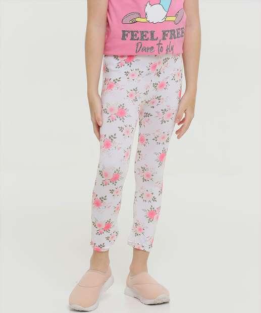 Image_Calça Infantil Legging Estampa Floral Tam 4 a 8