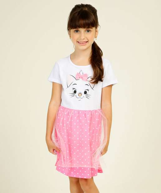 Image_Camisola Infantil Fantasia Tule Gata Marie Disney Tam 4 a 10
