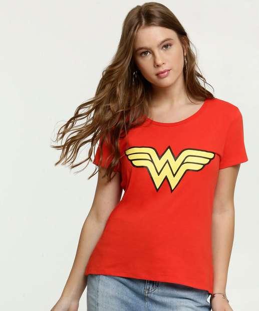 Image_Blusa Feminina Estampa Mulher Maravilha Liga da Justiça