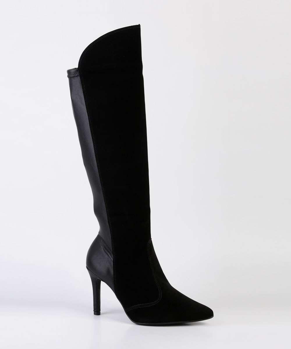 Bota Feminina Over The Knee Nobuck Vizzano
