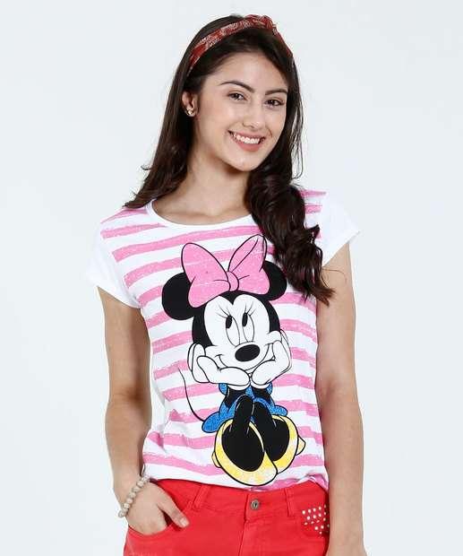 Image_Blusa Juvenil Estampa Minnie Glitter Disney