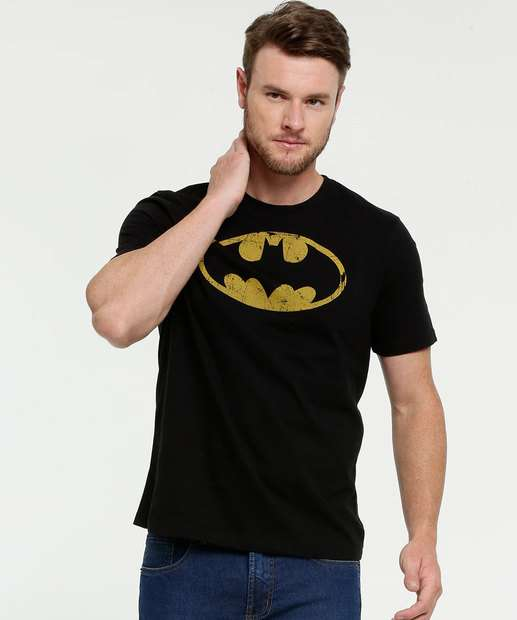 Image_Camiseta Masculina Estampa Batman Manga Curta Liga da Justiça