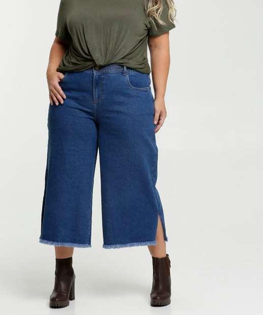 Image_Calça Jeans Pantacourt Plus Size Feminina Marisa