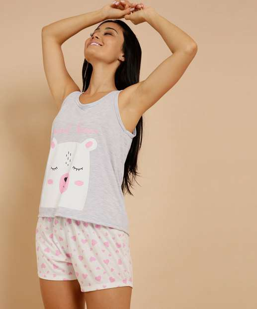 Image_Pijama Feminino Estampa Urso Sem Manga Marisa