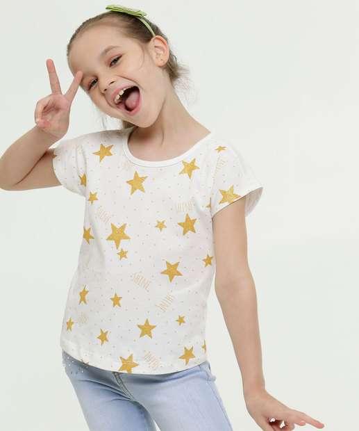 Image_Blusa Infantil Estampa Estrelas Glitter Marisa