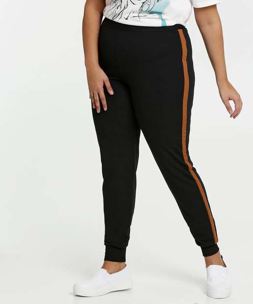 Image_Calça Feminina Jogger Textura Plus Size