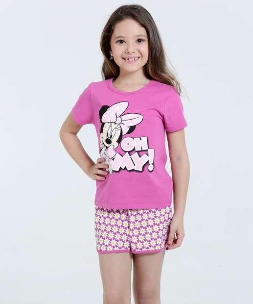 Image_Pijama Infantil Minnie Frase Glitter Disney