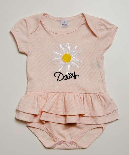 Image_Body Infantil Bebê Estampa Flor Manga Curta