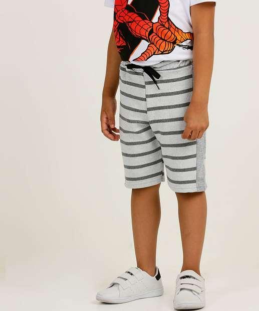 Image_Bermuda Infantil Moletinho Listrado Tam 4 a 10
