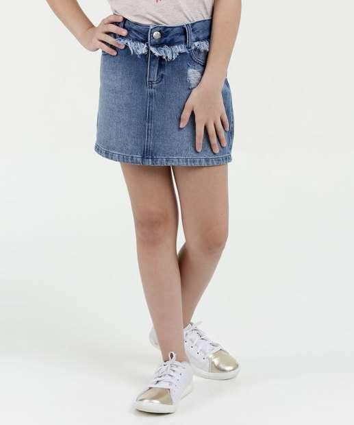 Image_Saia Infantil Jeans Puídos Marisa
