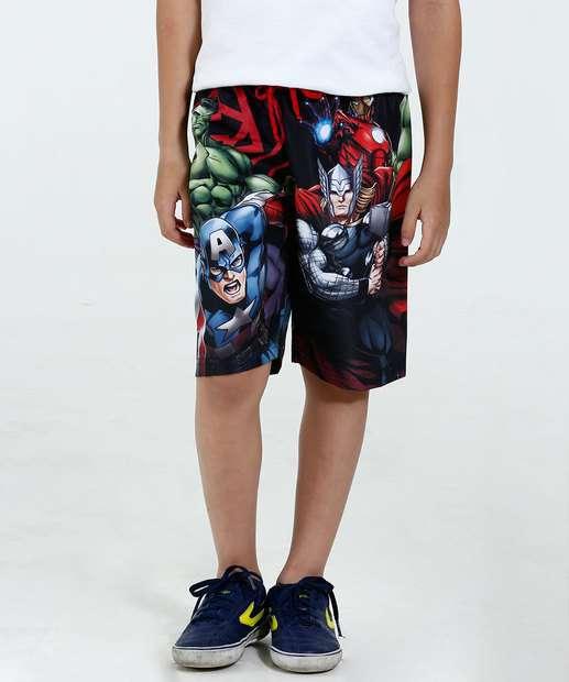 Image_Bermuda Infantil Estampa Os Vingadores Marvel