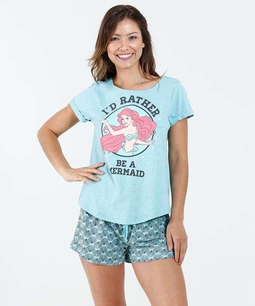 Image_Pijama Feminino Short Doll Princesa Ariel Disney
