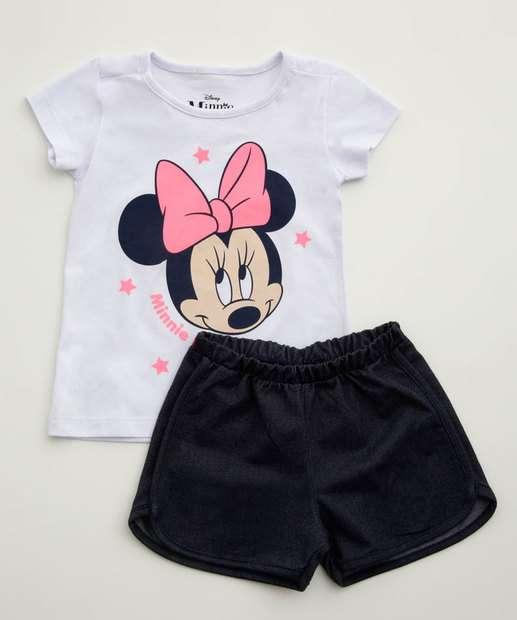 Image_Conjunto Infantil Estampa Minnie Manga Curta Disney