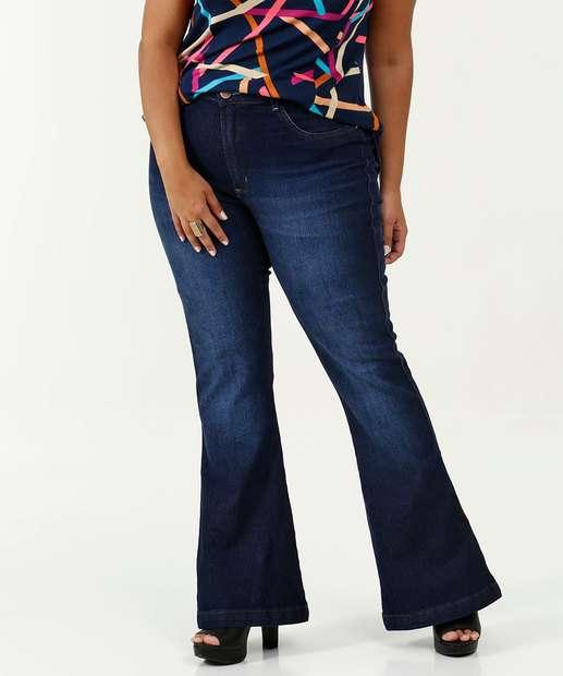 Image_Calça Feminina Flare Stretch Plus Size Uber Jeans