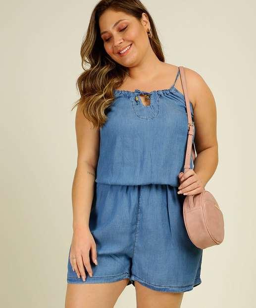 Image_Macaquinho Plus Size Feminino Jeans Vazado Alças Finas