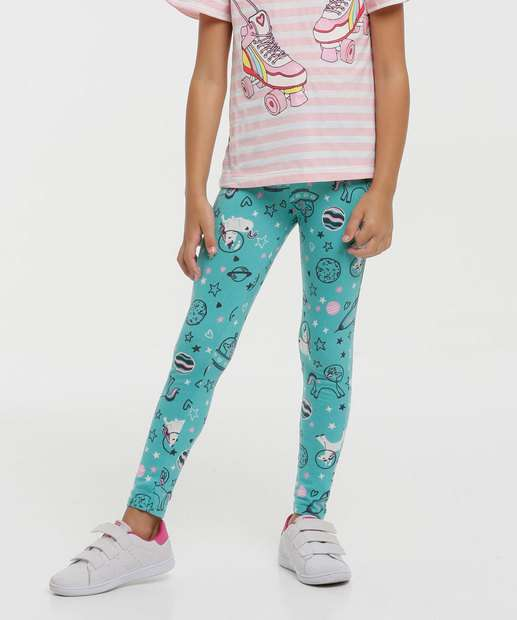 Image_Calça Infantil Legging Estampada Tam 4 a 8