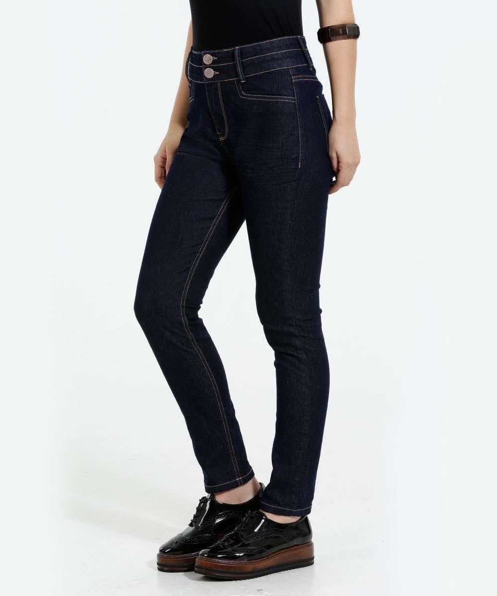 Calça Feminina Cigarrete Jeans Marisa