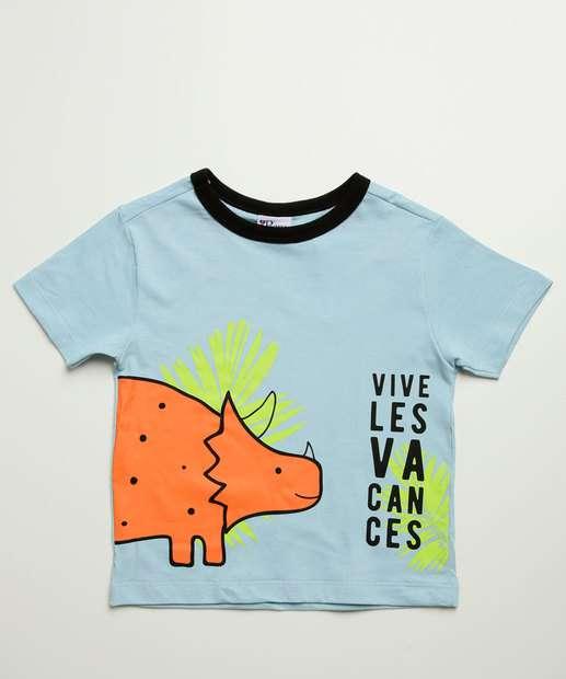 Image_Camiseta Infantil Manga Curta Dinossauro Tam 1 a 3