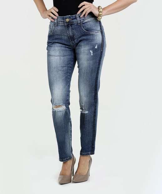 Image_Calça Feminina Jeans Destroyed Slim Sawary
