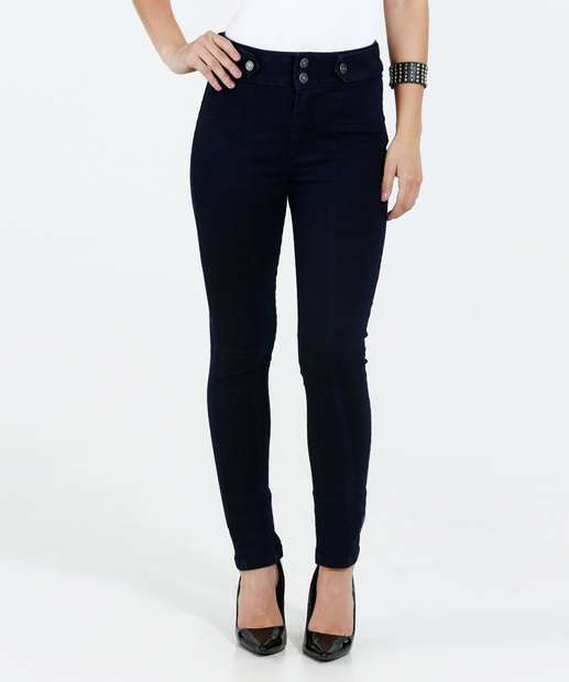 Image_Calça Feminina Jeans Skinny Cintura Alta Marisa