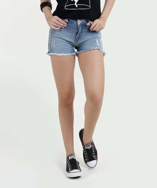 Image_Short Feminino Jeans Puídos Biotipo