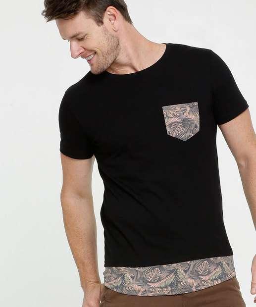 Image_Camiseta Masculina Recorte Folhas Rock & Soda