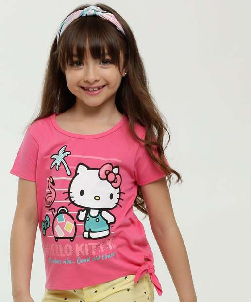 Image_Blusa Infantil Estampa Hello Kitty Strass Sanrio