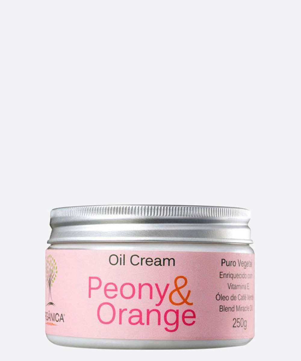 Creme Corporal Peony & Orange Oil Cream Orgânica 250gr