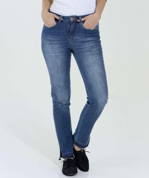Image_Calça Feminina Jeans Skinny Desfiada Marisa