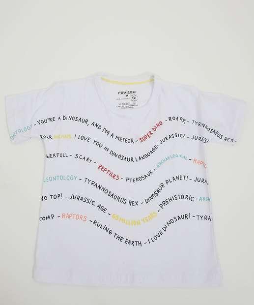Image_Camiseta Infantil Manga Curta Estampa Frontal Tam 1 a 3