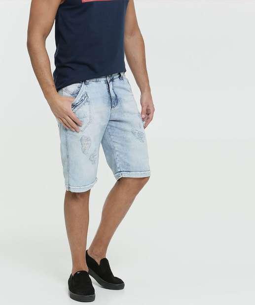 Image_Bermuda Masculina Jeans Destroyed Bolsos Razon