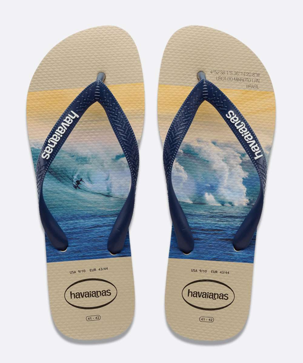 Chinelo Havaianas Masculino Estampa Surf Hype