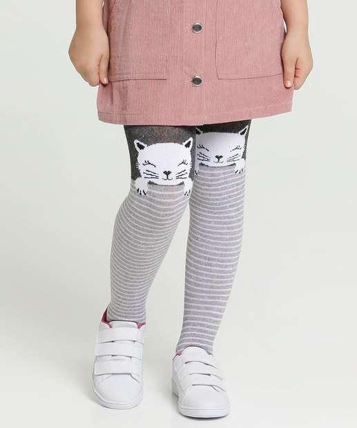 Image_Meia Calça Infantil Estampa Gato Marisa